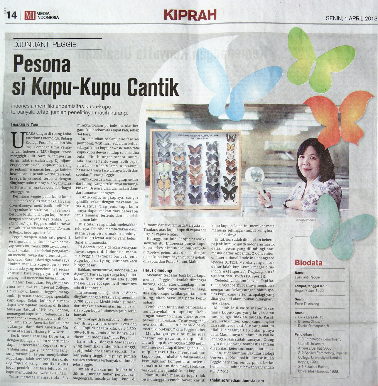 Artikel Media Indonesia - Senin, 1 April 2013, Kolom Kiprah