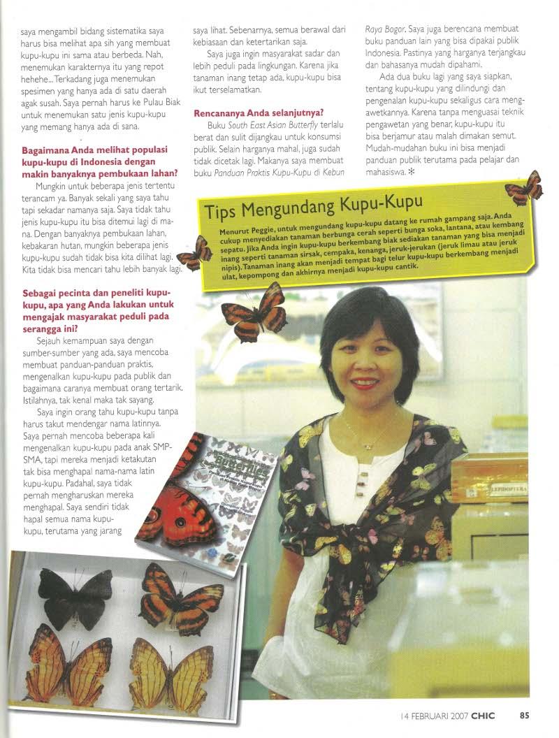 Chic Magazine 14 Februari 2007 -Dr. Djunijanti Peggie, M.Sc. - Pakar Kupu-kupu - halaman 3