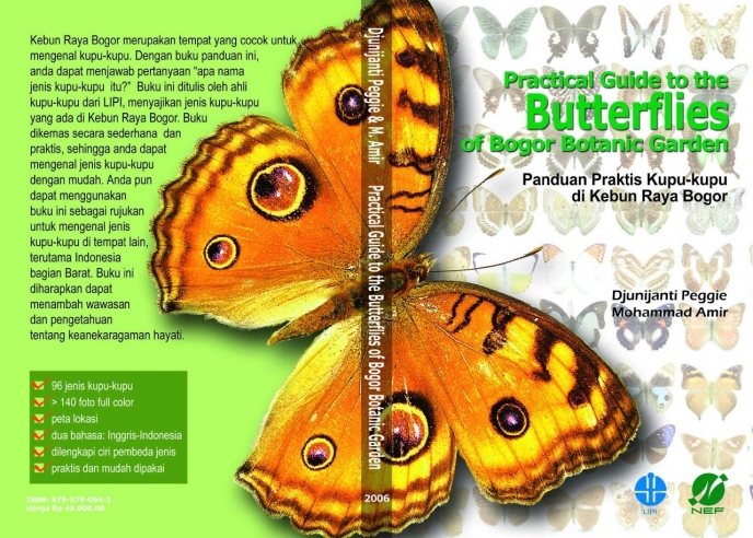 Cover Buku Practical Guide to the Butterflies of Bogor Botanic Garden